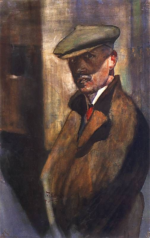 Autoportret, 1910 by Julian Fałat (Polish 1853-1929)