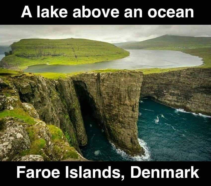 Faroe Islands, Denmark, lakes, oceans, tdw