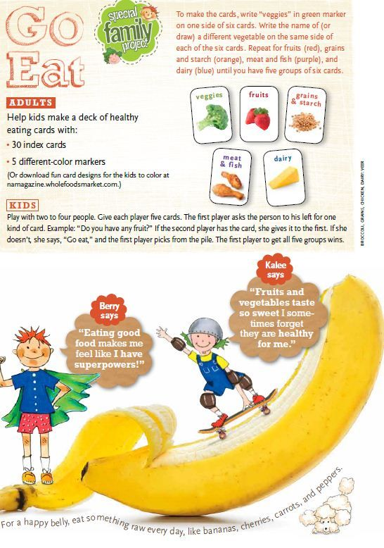 Help your kids make a deck of healthy eating cards. Make healthy fun! #healthykids #crafts