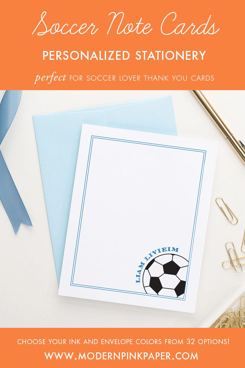 Soccer Stationery Set  Soccer Gifts  Soccer Birthday Party  Soccer Baby Shower  Soccer Coach Gift  Soccer Stationary SPORTS SOCCER