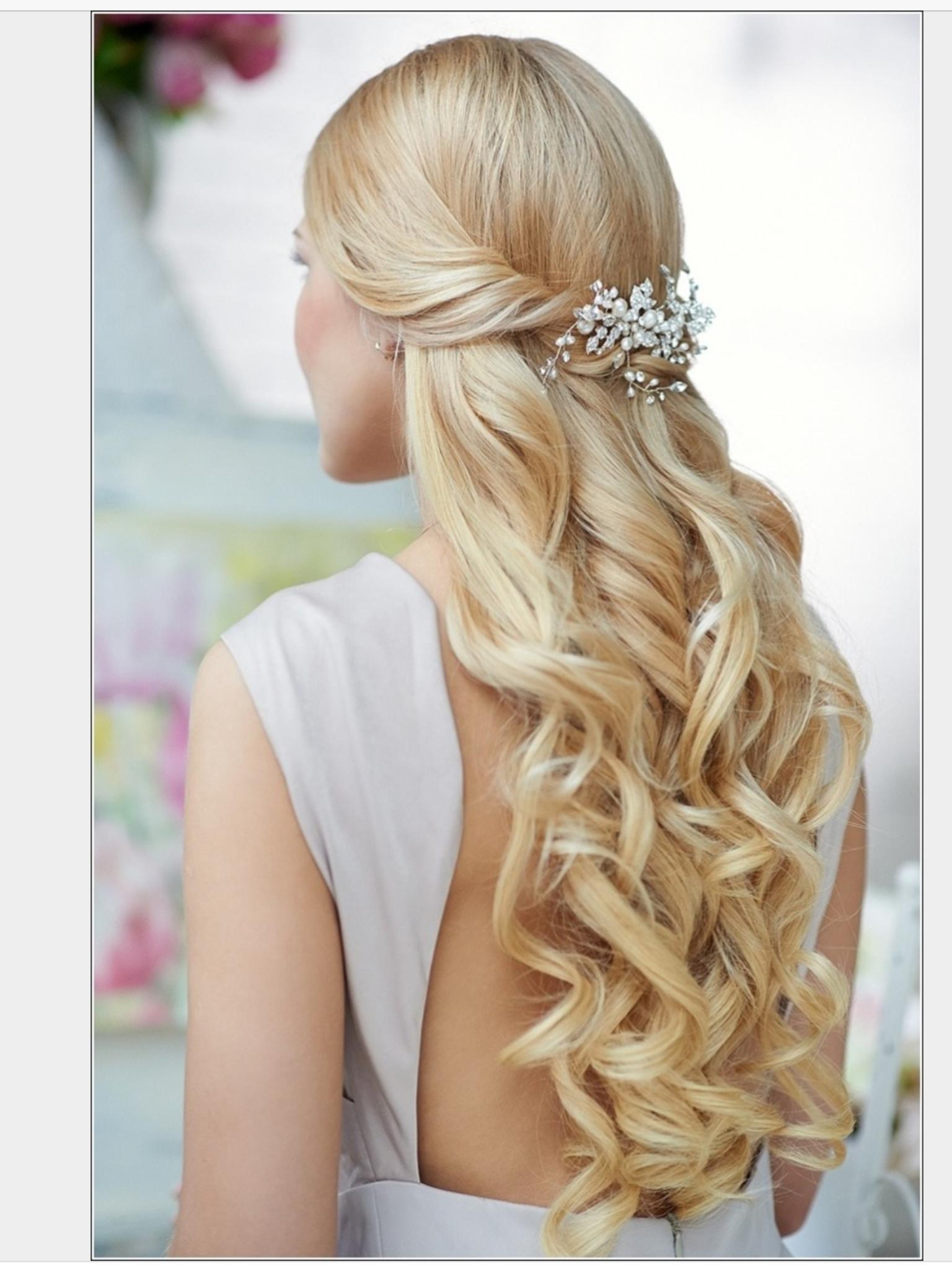 Pin By Elena Kurz On Abschlussballfrisuren Wedding Hair Pieces Hair Styles Wedding Hair Down