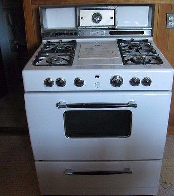 appliances vintage white roper 30 gas range stove with manual rh pinterest co uk Maytag Stove Manual Roper Oven Manual