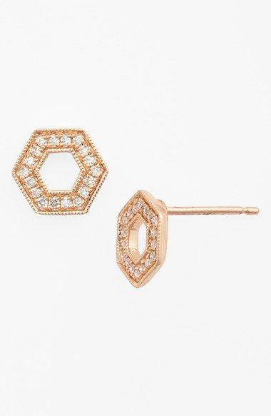Dana Rebecca Designs Jennifer Yamina Open Hexagon Stud Earrings Nordstrom