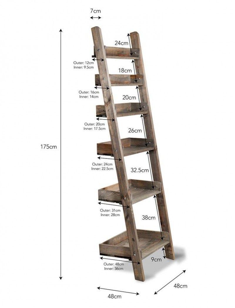 Houten Decoratie Ladder Aldsworth Opbergrekken Hout Houten Ladder Sloophout Projecten Decoratie