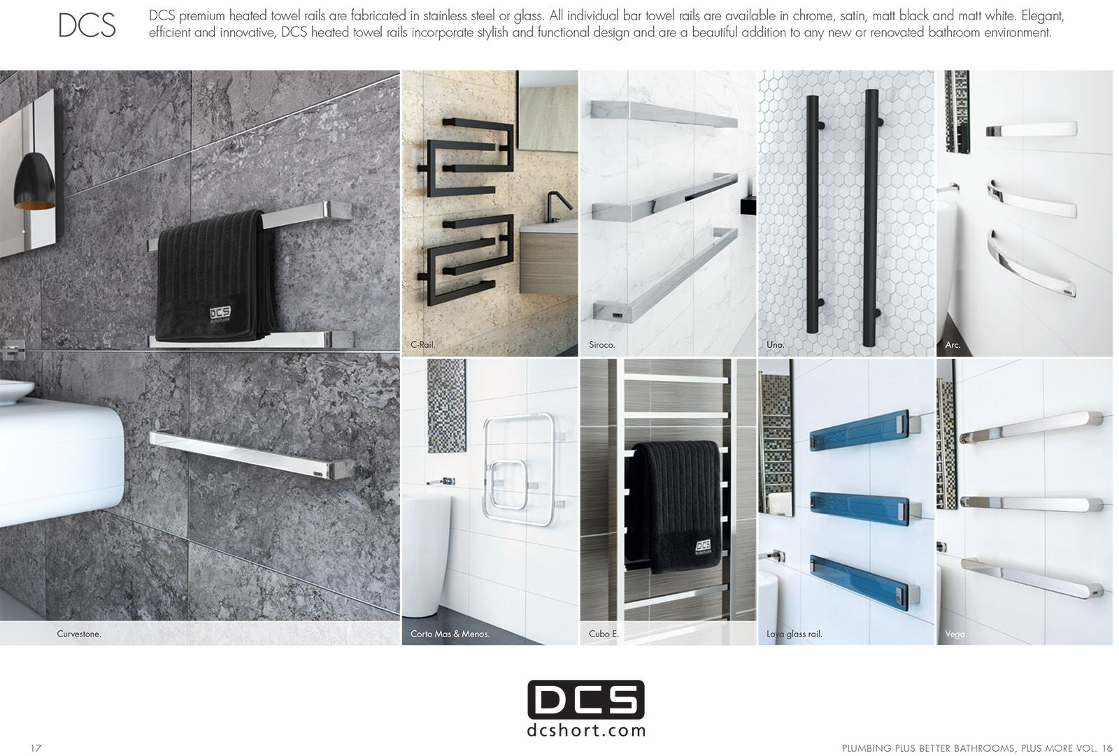 Plumbing Plus Vol.16 - DCS Heated Towel Rails.
