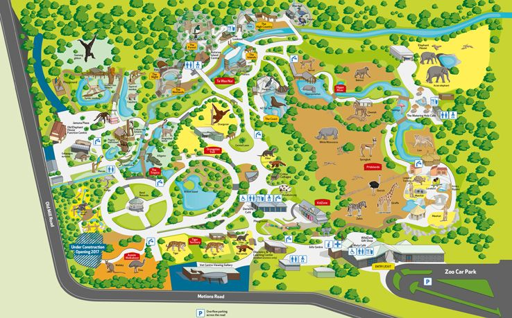 Auckland Zoo Map Places I have been things I have seen