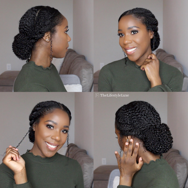 Protective Style for Natural Hair #protectivestyles