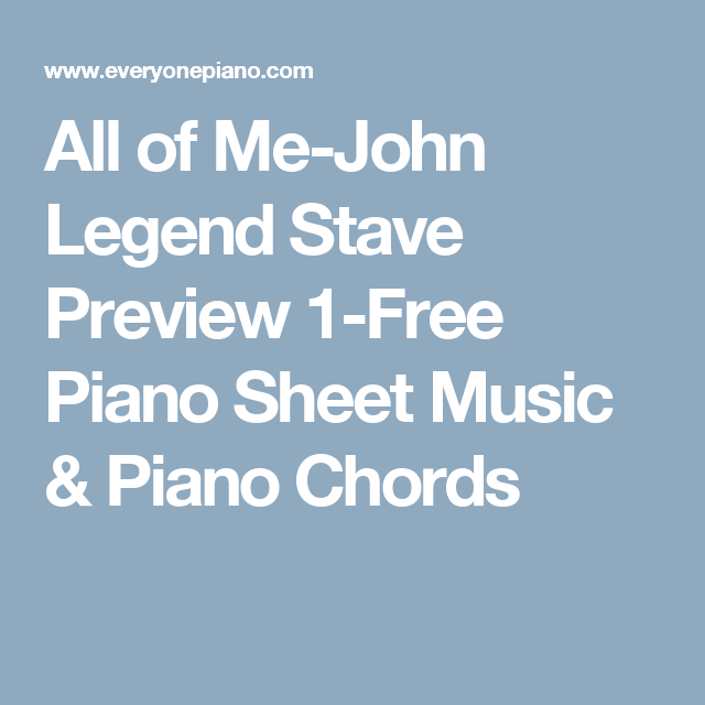 All Of Me John Legend Stave Preview 1 Free Piano Sheet Music Piano