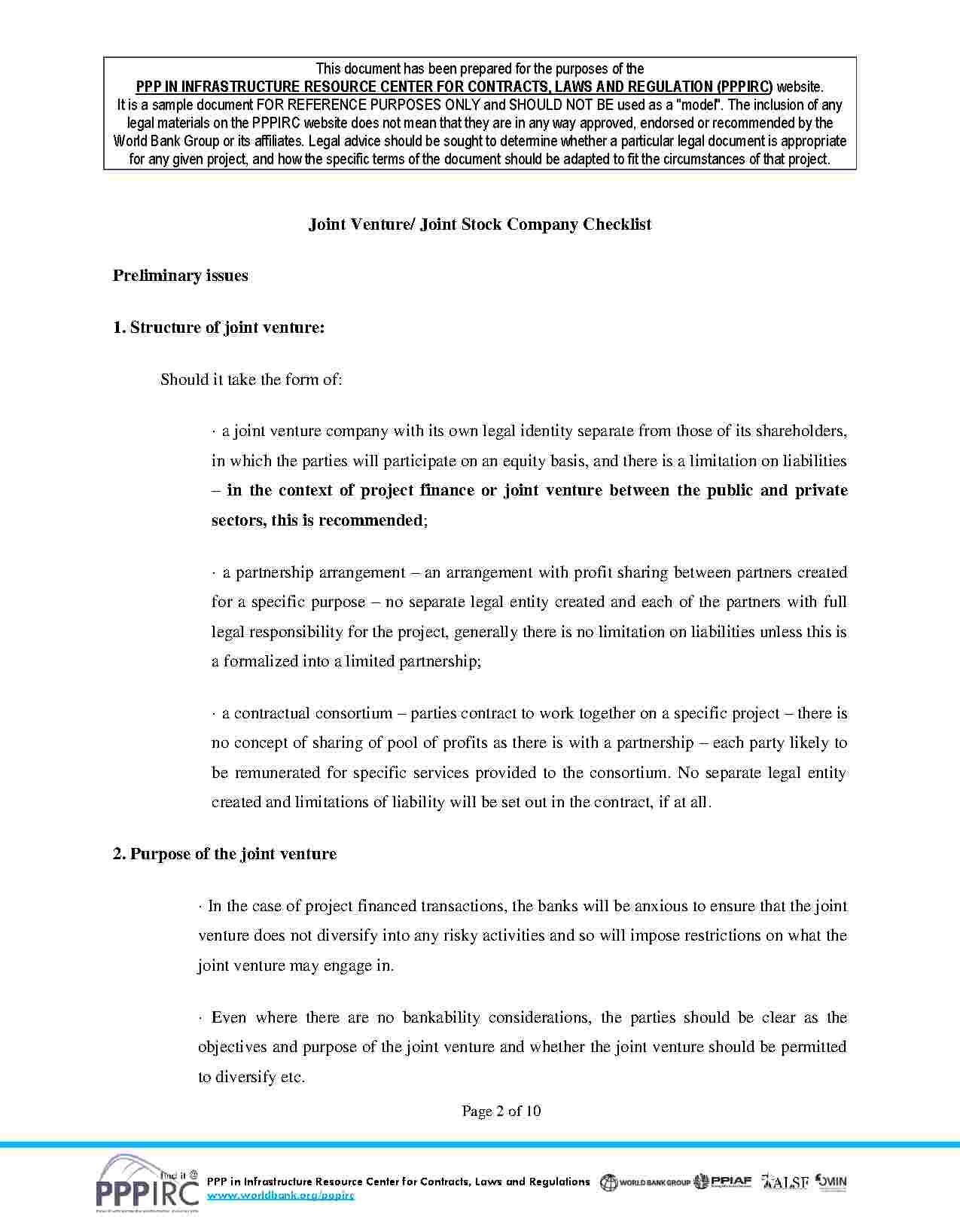 Joint Venture Agreement Joint venture, Agreement, Templates