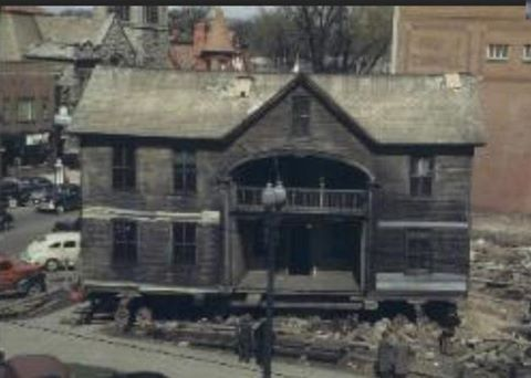 1948 The Sherwood Davidson House Is Being Moved From The Corner Of E Church And N 3rd Streets Now Park National Bank Ohio History Newark Ohio Famous Places