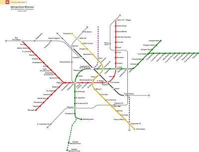 Mapa Del Metro De Milan Plano Para Descargar En Pdf Mapa Del
