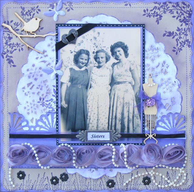 Vintage violet ... mask, ink and stamp your way to heaven! As seen in the Australian Scrapbook Ideas magazine issue # 18. By Kelly-ann Oosterbeek.