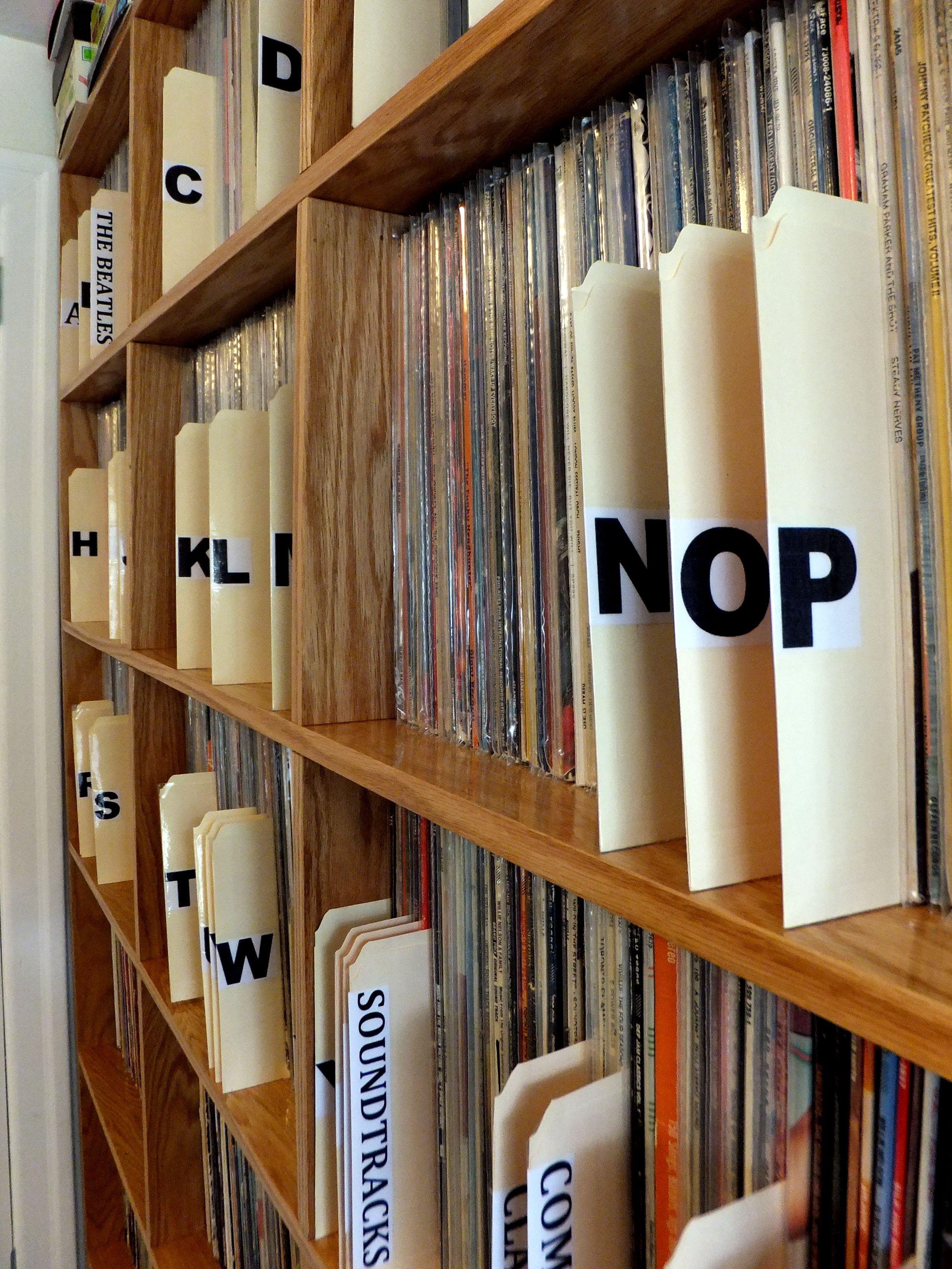 Vinyl Shelf Plans