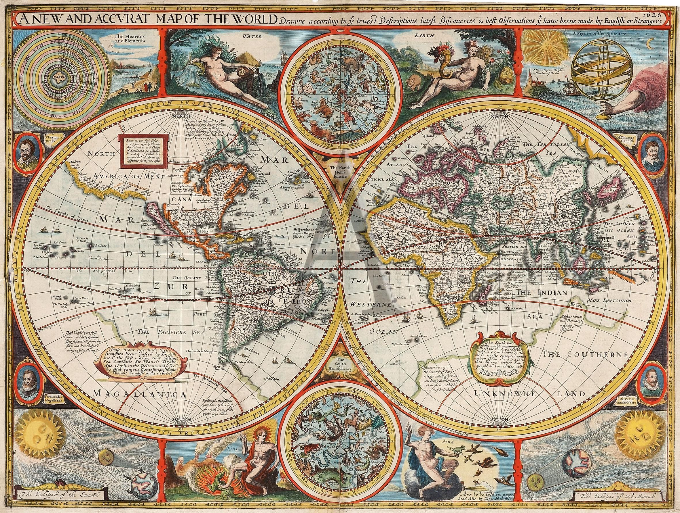 World map from 1626 showing discoveries ty have beene made by world map from 1626 showing discoveries ty have beene made by english or gumiabroncs Gallery