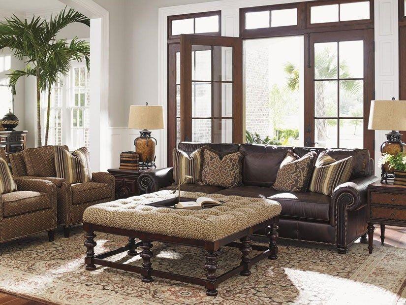 Leather Sofa With Fabric Chairs, Baer S Furniture Co Inc Sarasota Fl
