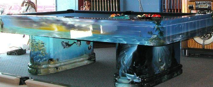 Fish Tank Pool Table PoolsAquariums Pinterest Pool Table And - Fish tank pool table
