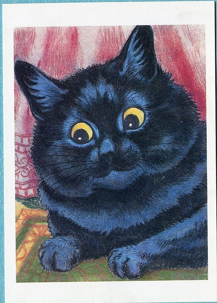 Black Cat Postcard Louis Wain Chris Beetles Cats