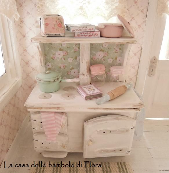 Shabby country kitchen stove