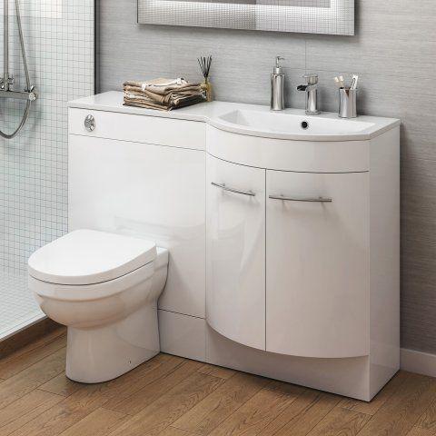 1200m Alexis White Gloss Right Hand Vanity Unit Sabrossa Ii Pan Soak Com Cuarto De Bano Moderno Muebles De Lavabo Lavabos De Bano