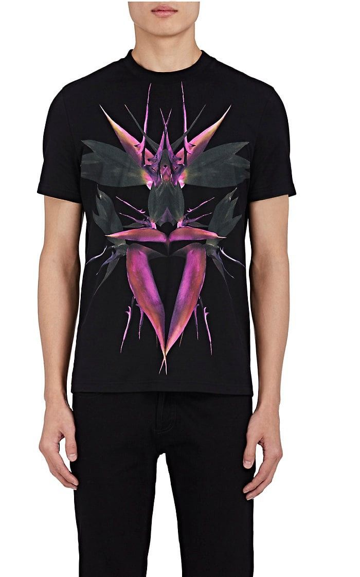 588f3aa8f GIVENCHY Bird-Of-Paradise Cotton Cuban-Fit T-Shirt. #givenchy #cloth ...
