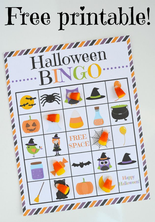 Canny image with halloween bingo printable