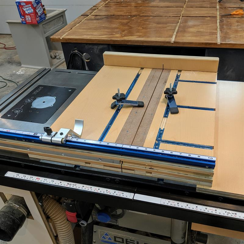 Crosscut sled Table saw fence, Trim