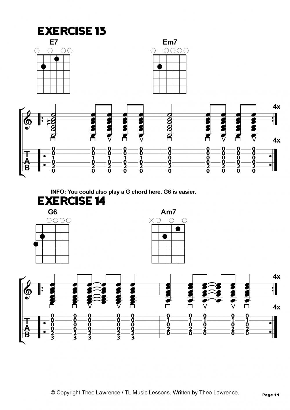 Chord Exercises 13 14 For Beginners Guitar And Ukulele Guitar