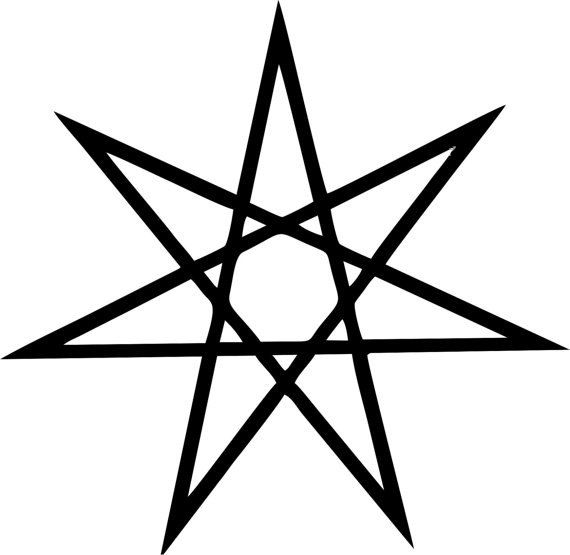 Heptagram Fairy Star Die Cut Decal Car Window Wall Bumper Phone