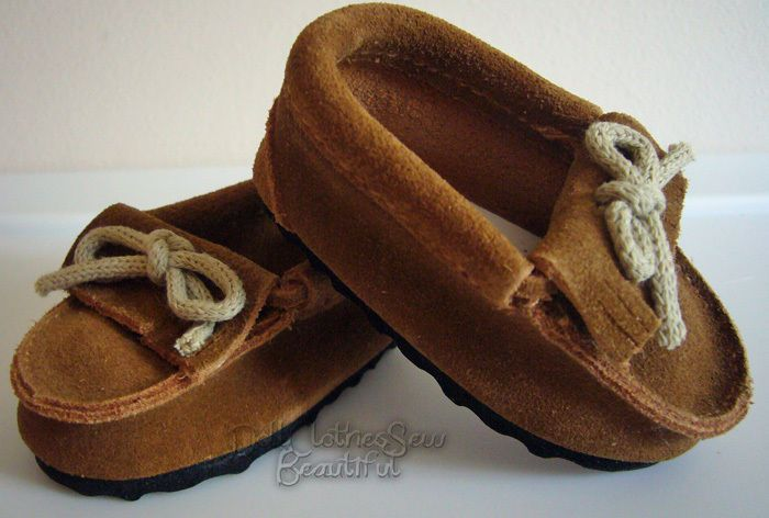028e781dc38 Suede MOCCASINS SHOES BROWN made for 18