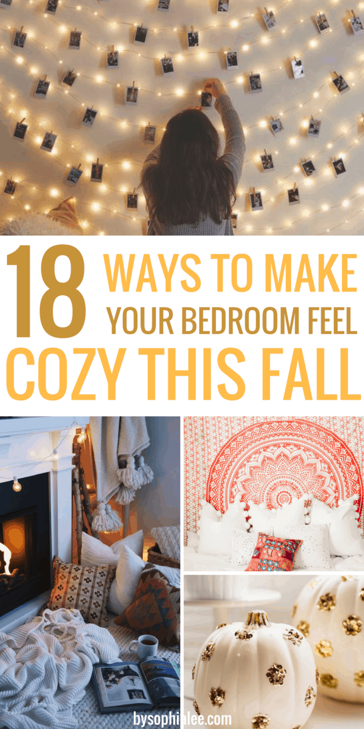 18 WAYS TO MAKE YOUR BEDROOM FEEL COZY THIS FALL images