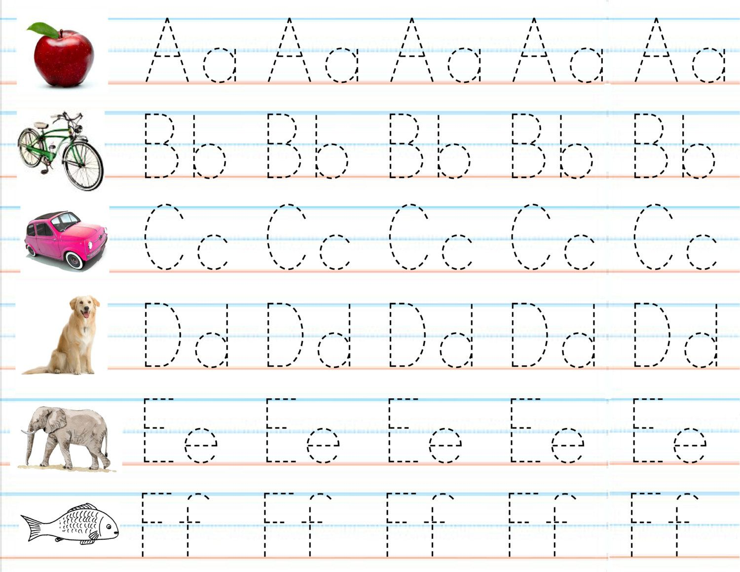 Abc Tracing Worksheet Christmas Theme
