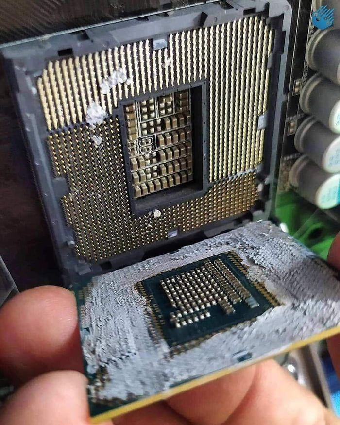 Customer came in today wondered why his cpu stopped