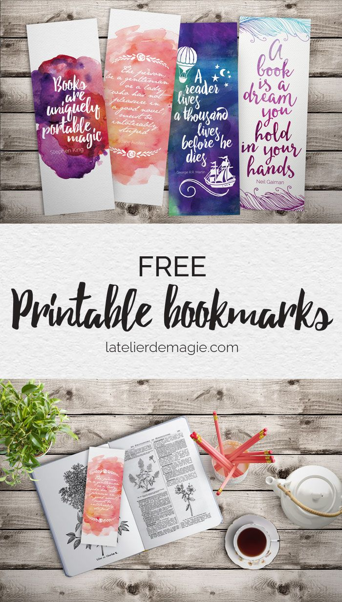 Free Printable Bookmarks Latelierdemagie Com Free Printable