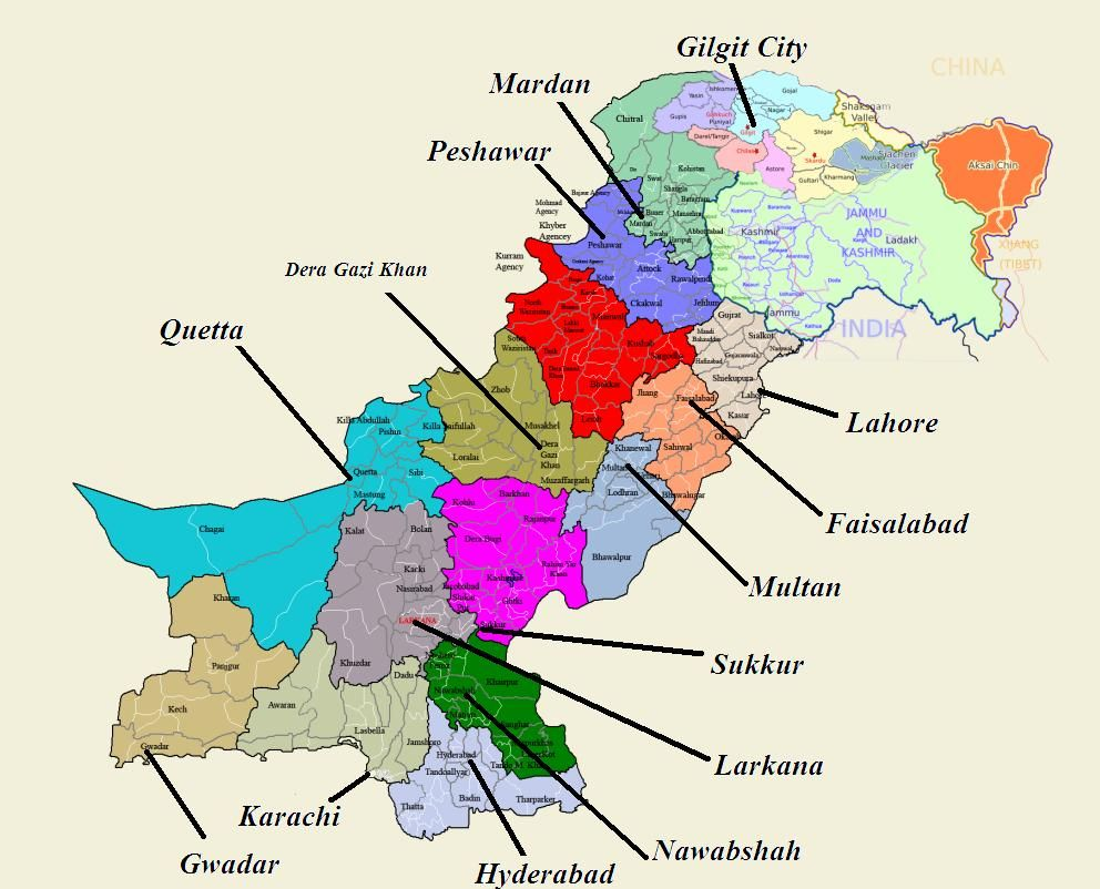 I Indiske Byer Kort Indien Kort Over Byer Sydlige Asien Asien