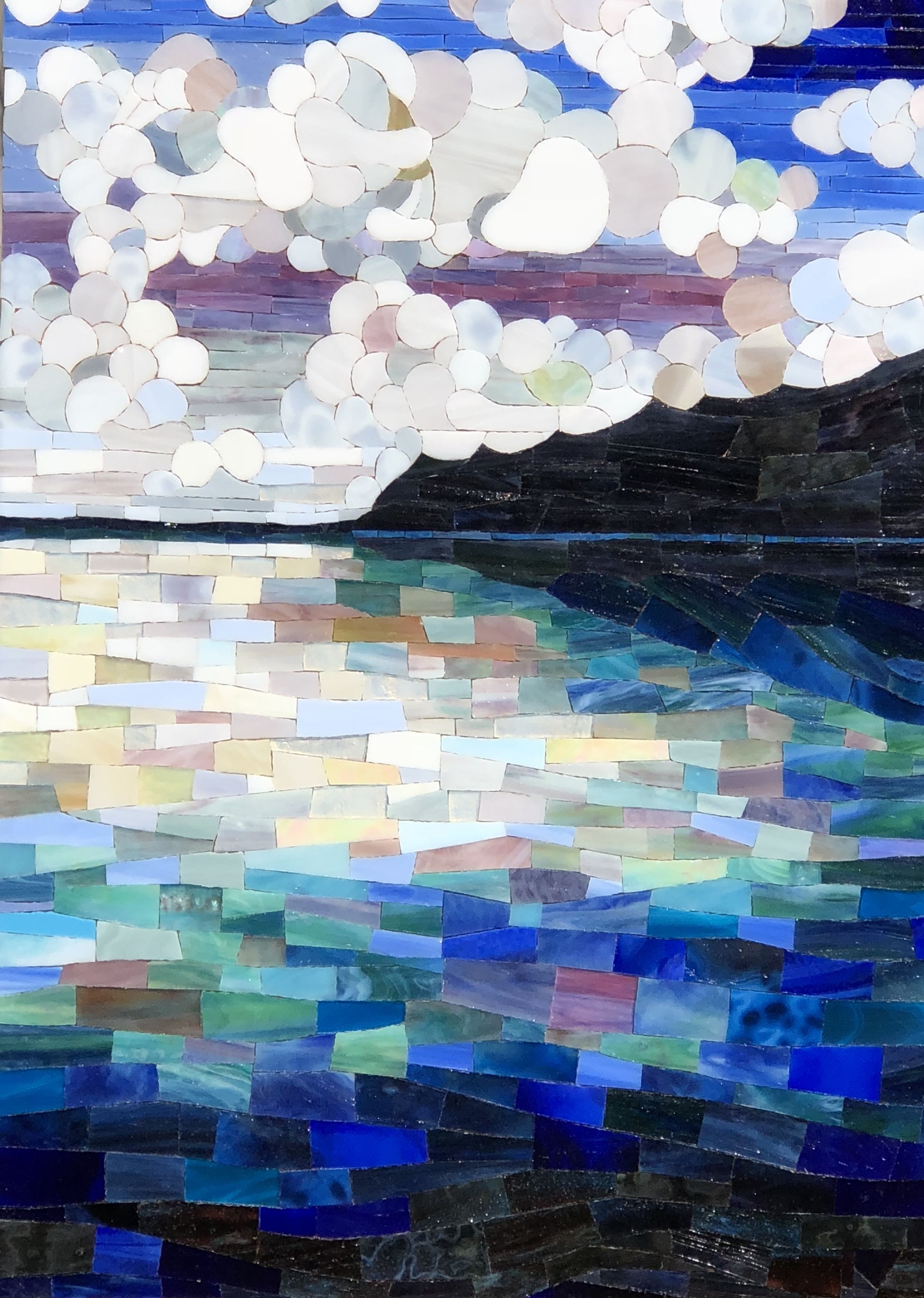Clouded Over Karin Wainwright Stained Glass Mosaic Art Clouds