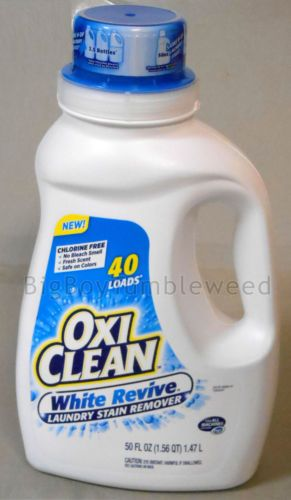 Oxiclean White Revive 50 Oz Liquid Soap Laundry Stain Remover