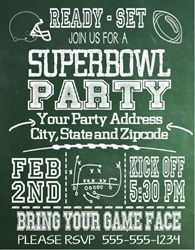 Super Bowl Invitation Chalkboard Super bowl party Bowls and