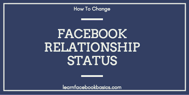 How to change Facebook Relationship status | Change Marriage Status