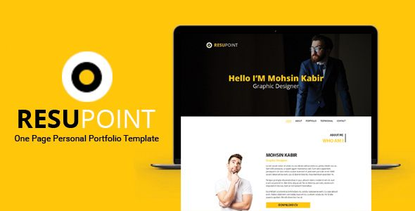 Resupoint  Personal Portfolio Template  Note All Images Used