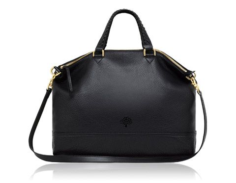 Mulberry - Effie Tote in Black Spongy Pebbled