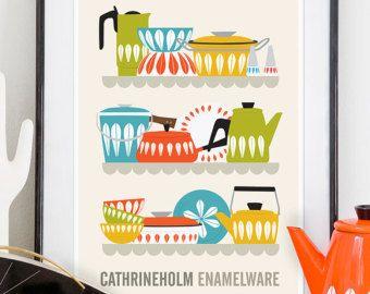Cuisine imprimer affiche milieu du si cle affiche art de par handz cuisine vintage jaune - Poster cuisine moderne ...