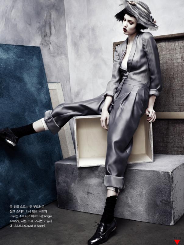 gunmetal + grey + navy--Lindsey Wixson by Rafael Stahelin for Vogue Korea April 2013 2