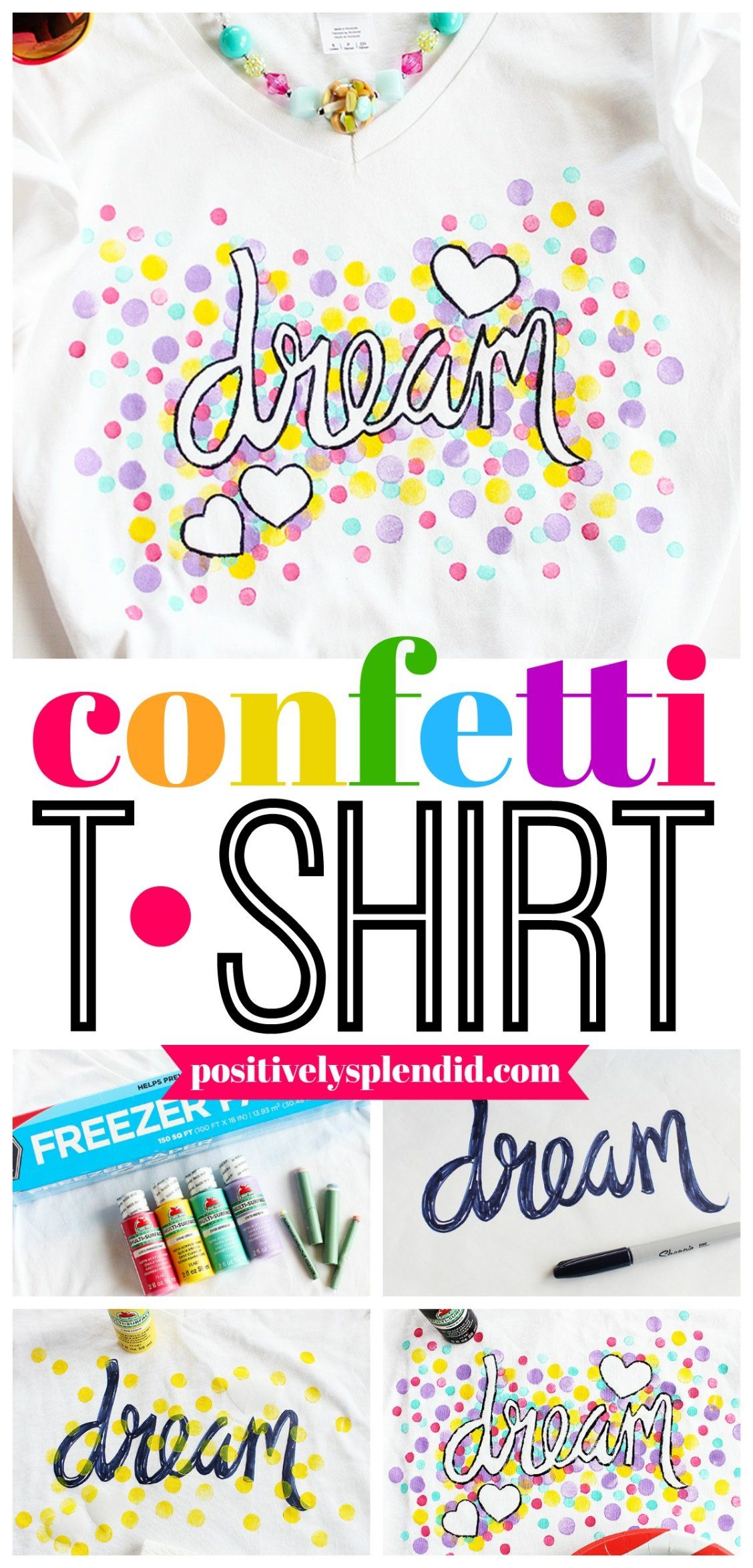 Confetti Freezer Paper Shirt A Fun Craft For Kids And Tweens
