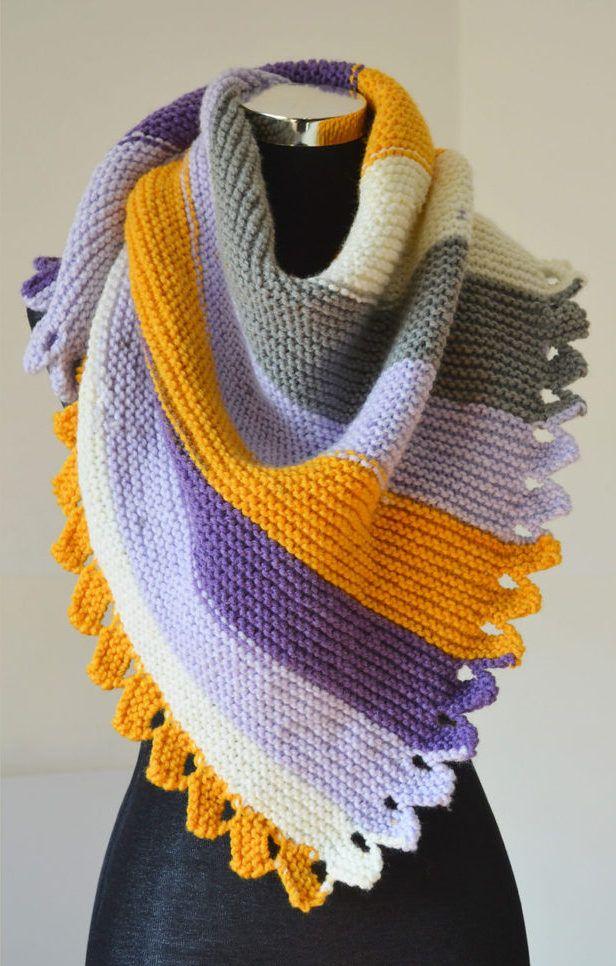 Shaped Shawl And Scarf Knitting Patterns Aran Weight Yarn Dragon