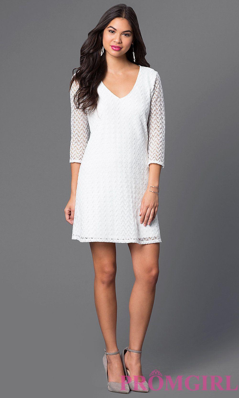 Short Ivory Dress Semi-Formal