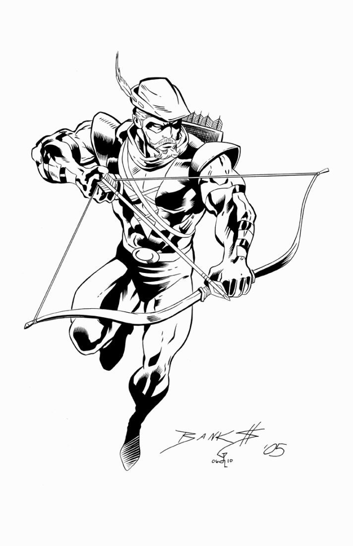 Green Arrow Coloring Pages Green Arrow Coloring Pages Drawing Superheroes