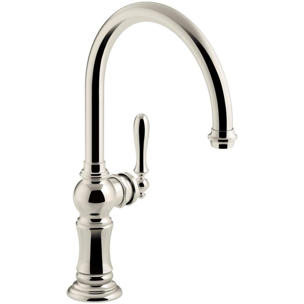 Kohler Artifacts Swing Spout Single Handle Standard Kitchen Faucet