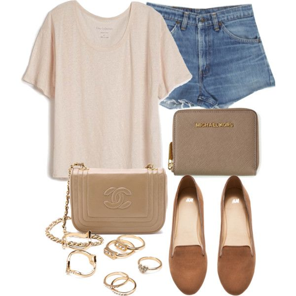 Style #8920 by vany-alvarado on Polyvore featuring polyvore fashion style Fine Collection H&M Michael Kors Forever 21 Levi's
