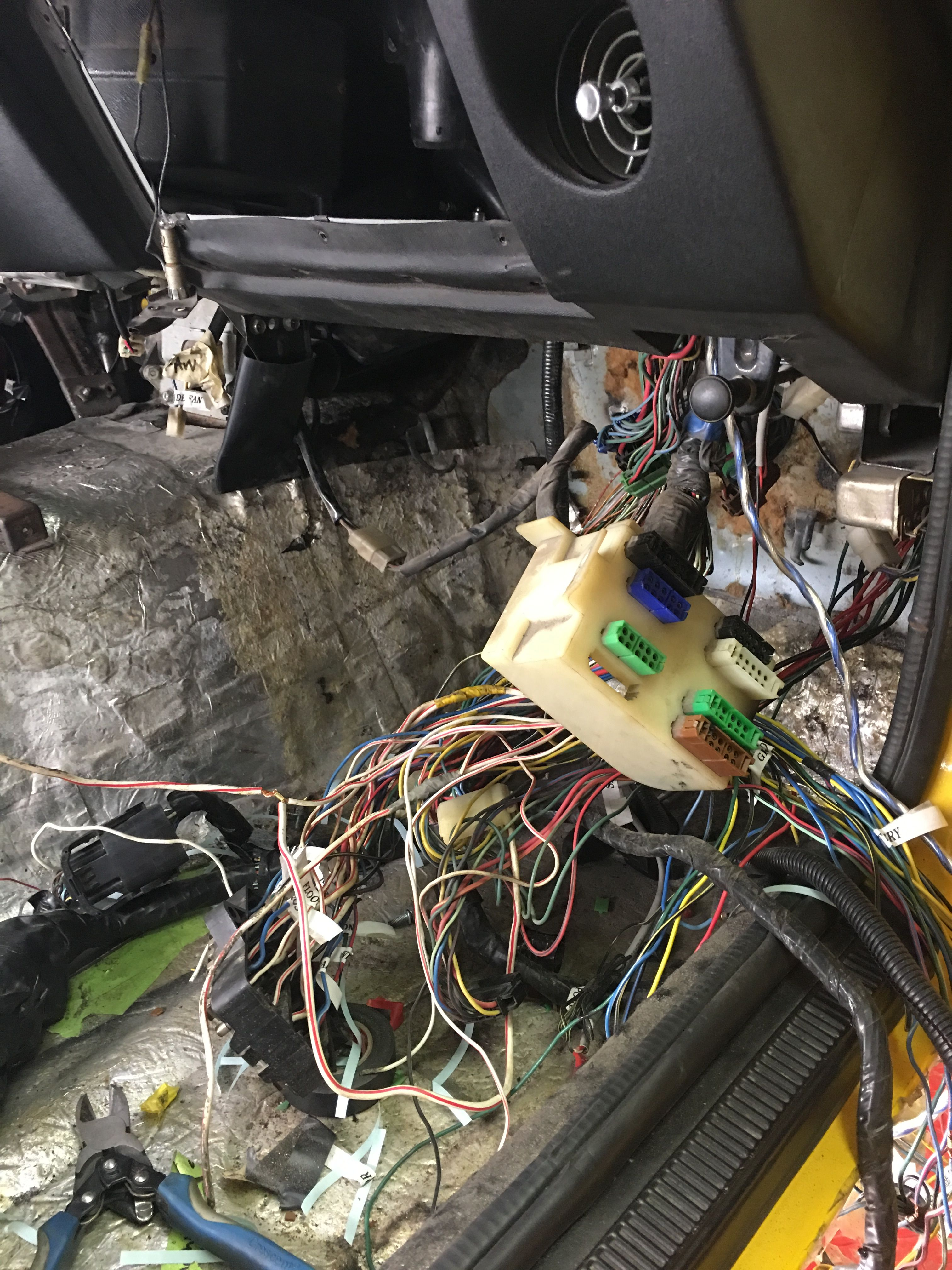 Replacing the fuse box and cleaning up the firewall