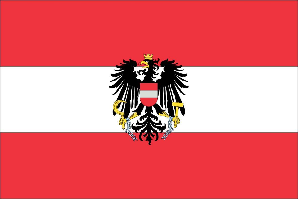 One of the oldest known flags. Symbolising the sovereignity(Eagle) the republic(Crown) Liberation from nazi german(Broken chains) Agriculture and industry(hammer and sickle)